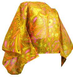 Psychedelic Kimono Sleeve Paper Blouse circa 1960s