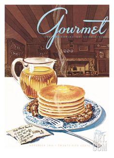 Gourmet Cover - November 1944 Premium Giclee Print by Henry Stahlhut at eu.art.com