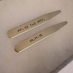 MODERN GOODS SHOP Stainless Steel Collar Stays With Laser Engraved Minnesota Design 2.5 Inch Metal Collar Stiffeners Made In USA