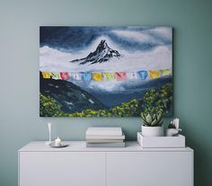 Mountain Paintings, Nature Paintings, Diy Canvas Art, Canvas Paper, Watercolor Artwork, Gouache Painting, Fine Art Prints, Framed Prints, Canvas Prints
