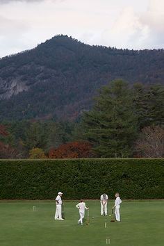 Croquet in the mountains at the Chattooga Club in Cashiers, North Carolina...used to get scolded for running around on this barefoot with my friends  (photo: Brennan Wesley)