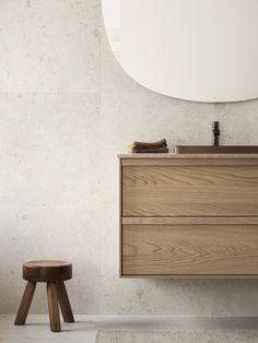 Bricmate J Norrvange Ivory är en granitkeramik i varm jordnära kulör med matt yta. Mycket naturtrogen, detaljerad och rik på variation med fossilliknande och naturliga detaljer. Inspirerad av den gotländska kalkstenen med samma namn. Beige Bathroom, Bathroom Inspo, Bathroom Renos, Small Bathroom, Modern Bathroom, Bathroom Design Inspiration, Bad Inspiration, Bathroom Interior Design, Dream Bathrooms