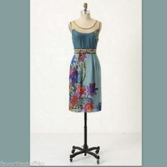"""FLOREAT """"Anthropologie"""" Dress Silk Embroidered """"Timeless Manor Gates"""" Size 2  Don't Miss Out!  SOLD!"""