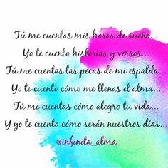 Yo te cuento... que me ha encantado este bonito poema escrito por: @infinita_alma, les recomiendo seguirla. Bonitas frases y hermosos poemas para todos los gustos.