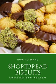 Learn How to Make Shortbread Biscuits with Assyrian Dishes! Learn To Cook, How To Make, Shortbread Biscuits, Food Videos, Almond, Dishes, Cookies, Baking, Ethnic Recipes