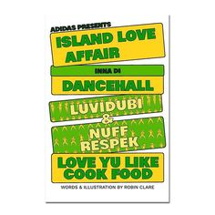 Check out the new Adidas Island Love Affair Origami Zine by artist @robinclare for some art dance and folding fun! Download it from www.robinclare.com and print it out #RobinClare #AdidasIslandLoveAffair #AdidasSkateboarding #OrigamiZine #DancehallTing #Dancehall #JamaicanMusic #Art #Music #Zine #NuffRespeck