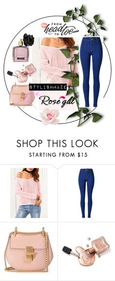 """""""Ripped Sweater ( Contest with prizes sponsored by rosegal.com) - STYLISHMAZE"""" by stylishmaze ❤ liked on Polyvore featuring Chloé and Victoria's Secret"""