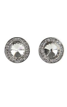Deb Shops Large Stone Stud Earrings $6.00