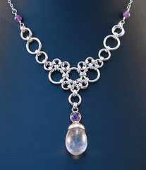Stepping Stones necklace by Corvus Chainmaille