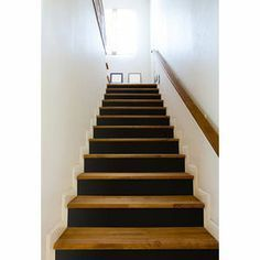 Online shopping from a great selection at Home Store. Basement House, Basement Stairs, House Stairs, Wood Stairs, Stair Railing, Painted Staircases, Under Stairs, Home Reno, Basement Remodeling