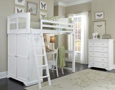 Twin Loft Bunk Bed Storage Desk Set Kids Children Boy Girl Bedroom Furniture New