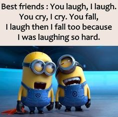 funny quotes & We choose the most beautiful Top 25 lol so True Friends Quotes for you.Top 25 lol so True Friends Quotes – Quotations and Quotes most beautiful quotes ideas Minion Humour, Funny Minion Memes, Minions Quotes, Funny Texts, Minion Sayings, Epic Texts, Lol So True, True True, Besties Quotes