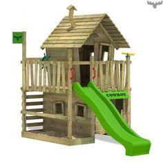 Spielturm CountryCow Maxi, Kletterturm aus holz Apfel 810148