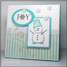 This snowman card is so personal and creative! It would be meaningful to anyone you gave it to