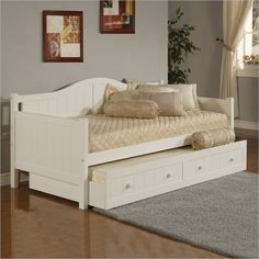 Lowest price online on all Hillsdale Staci Wood Daybed in White Finish With Trundle - 1525DBT