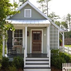 Like the hues you choose for indoors, exterior house colors should be ones you love coming home to day after day. That being said, if you're planning to put your house on the market in the near future, the wise course is to consider which exterior paint c Exterior Paint Colors For House, Paint Colors For Home, Exterior Colors, Exterior Design, Green House Paint, Paint Colours, Light Green House, Sage Green House, Green House Color