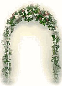 Metal archway - 7.5' x 4.5' wide