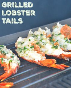 Grilled Lobster Tails Recipe- Succulent, tender lobster tails grilled to perfection with garlic, butter and parsley. Perfect for Valentine's Day dinner!
