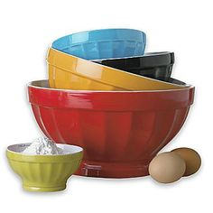 Cooks 5-pc. Ceramic Mixing Bowl Set - jcpenney