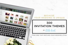 Because your wedding is unique, we now have 300 invitation themes for you to choose from! Find one that matches your wedding style. Head to www.littleknot.com to learn more.