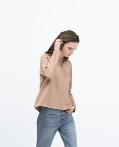 ZARA - WOMAN - ZIPPED WOVEN TOP