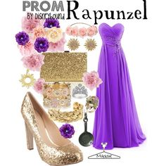 """Rapunzel Prom outfit. Disneybound"" by maddiepie97 on Polyvore"