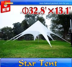 Amazon.com: HOMCOM 13.1' High Star Party Tent Canopy Shade White Outdoor Modern Marquee: Sports & Outdoors