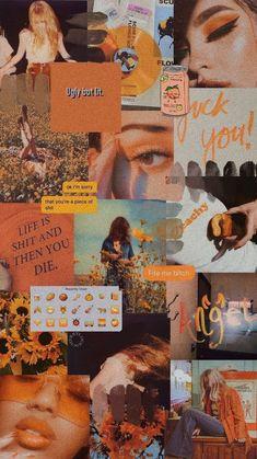 New orange aesthetic wallpaper collage Ideas Wallpaper Tumblr Lockscreen, Iphone Wallpaper Tumblr Aesthetic, Aesthetic Pastel Wallpaper, Wallpaper Iphone Cute, Galaxy Wallpaper, Lock Screen Wallpaper, Wallpaper Backgrounds, Aesthetic Wallpapers, Wallpaper Patterns