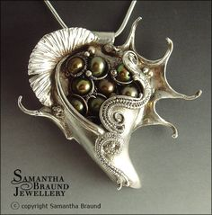Spider Conch Necklace by Samantha_Braund, via Flickr