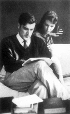 """Ted Hughes & Sylvia Plath read  """"Dying is an art.   Like everything else,   I do it exceptionally well.   I do it so it feels like hell.   I do it so it feels real.   I guess you could say I have a call.""""   ~Sylvia Plath"""