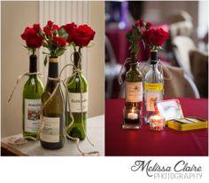 Wine Bottle Table Centerpieces