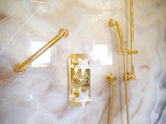 Cloud onyx, gold-plated fixtures & Lalique starfish handles! Harriette Rose Katz   New York Social Diary