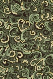 green koru pattern for olive pouch pack