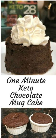 One Minute Keto Chocolate Mug Cake This is one of the BEST Keto Chocolate Mug Cake recipes I have ever tried. It really does only take one minute to cook in the microwave too! It's…More 15 Guilt Free Keto Diet Friendly Dessert Recipes Dessert Bars, Dessert Mousse, Coconut Dessert, Oreo Dessert, Desserts Keto, Brownie Desserts, Keto Friendly Desserts, Mini Desserts, Dessert Recipes