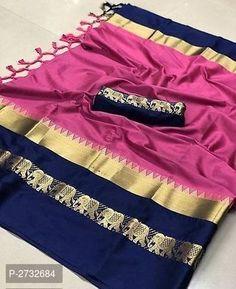 RAINBOW Hathi Fabulous Cotton Silk Sarees Net Blouses, Cotton Blouses, Cotton Saree, Cotton Silk, Online Shopping Sarees, Sarees Online, Fashion Bazaar, Designer Silk Sarees, Designer Blouse Patterns