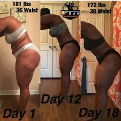Repost From @curlyfitsisters -- • SW: 181 S(Waist): 36 inches. CW: 172 lbs C(Waist): 30 inches. There is a change in my lower abdominal from Day 12 to Day 18 and legs are continuing to firm. Losing fat and building muscle! Exposing what was hidden by clothes has been one of the most empowering things I've done! Watch us transform! Geeked! #30DayTransformationTeam #liftheavyshit #addictedtotheprogress • To Get Your Own FitCurvy Transformation Plan, Go To:  www.30DayTransformationTeam.com…