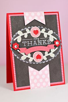 Many Thanks Card by Erin Lincoln for Papertrey Ink (January 2013)