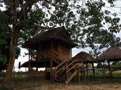 Casa de madera, arquitectura vernácula en el Río Coco de Nicaragua