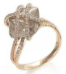 Natural Diamond Crystal Jewelry Created With Uncut Rough Diamonds Such A Gorgeous Ring