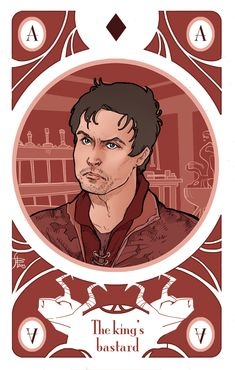 Gendry Baratheon, the Ace of diamonds Illustration for my personal version of Game of Thrones' cards