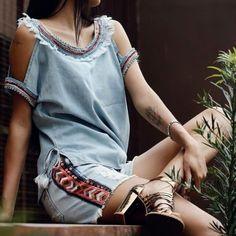 Love jeans love ! #usemodachris #usemoda #modafeminina #estilo #tendencias #summer #lovejeans