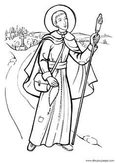 louis marie grignon de montfort catholic colouring page