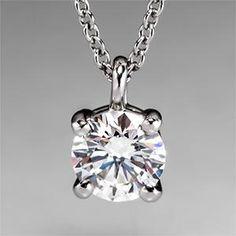 Signature floating diamond solitaire pendant in platinum 175 ct tiffany solitaire diamond pendant necklace in platinum eragem 299900 aloadofball Images