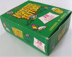 1985 Allens & Regina Monster Tattoo's Bubblegum Display Box - New Zealand