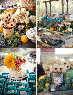 Fun Farmers Market Inspired Wedding: Chelsea + Dillon Event Design by Tammy Mitchell Design & Photos by Burnt Exposure