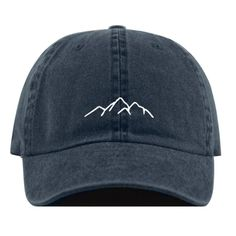 Mountains - Mountains This mountains embroidered baseball hat is made for you. Customize it by choosing from a variety of colors. It's fully adjustable and easy to style! Hat Embroidery, Embroidery On Clothes, Embroidered Clothes, Embroidered Baseball Caps, Bone Bordado, Cute Hats, Cute Baseball Hats, Baseball Field, Vintage Baseball Caps