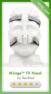 With only four parts, ResMed's Mirage FX nasal CPAP mask is light weight, compact, and easy to clean and easy to use. Click on the image above for more information!