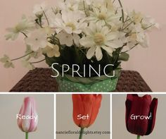 It's Spring! Come to Nancie's Floral Delights for spring floral arrangements, and decorate the season!