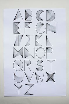 Alphabet: Simple to Try, Place to Fit? Alphabet Design, Hand Lettering Alphabet, Calligraphy Letters, Typography Letters, Typography Poster, Cool Fonts Alphabet, Letras Cool, Schrift Design, Typographie Logo