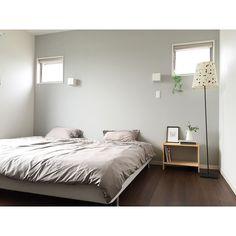 ベッド周り/壁紙/緑のある暮らし/シンプルインテリア/ベッドサイドテーブル/北欧…などのインテリア実例 - 2016-07-28 13:54:13 | RoomClip(ルームクリップ)